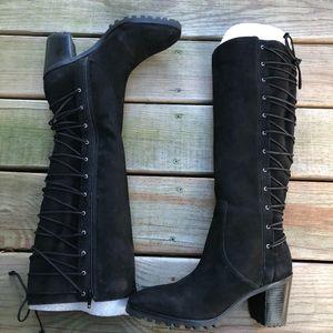 BERNARDO Frances Lace up Back Tall Boots